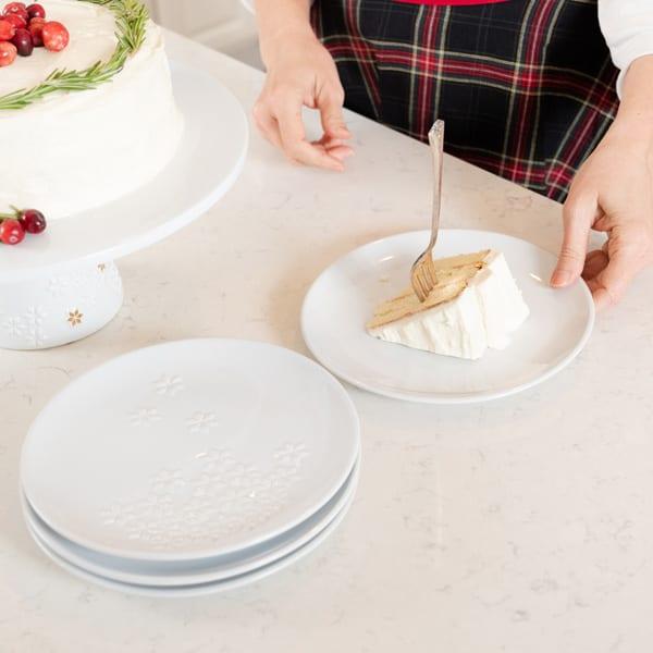 Simply Christmas dessert plates