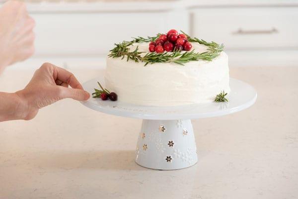 Vanilla cake for Christmas