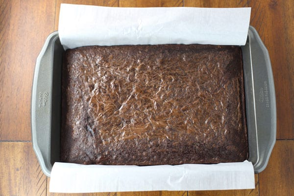 Baked brownie mix