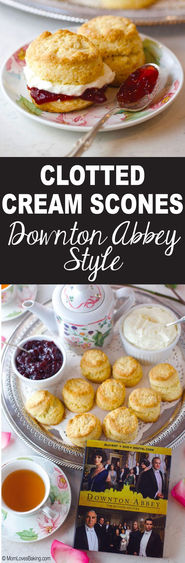 Clotted cream scones Downton Abbey Style