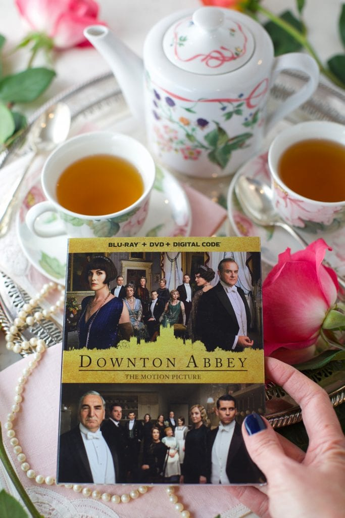 Downton Abbey high tea party with scones