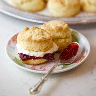Cream scones with clotted cream for high tea