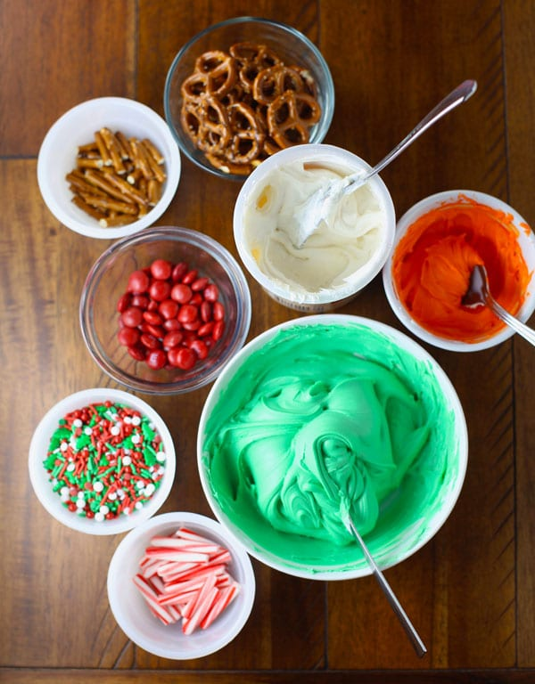 Christmas brownie toppings