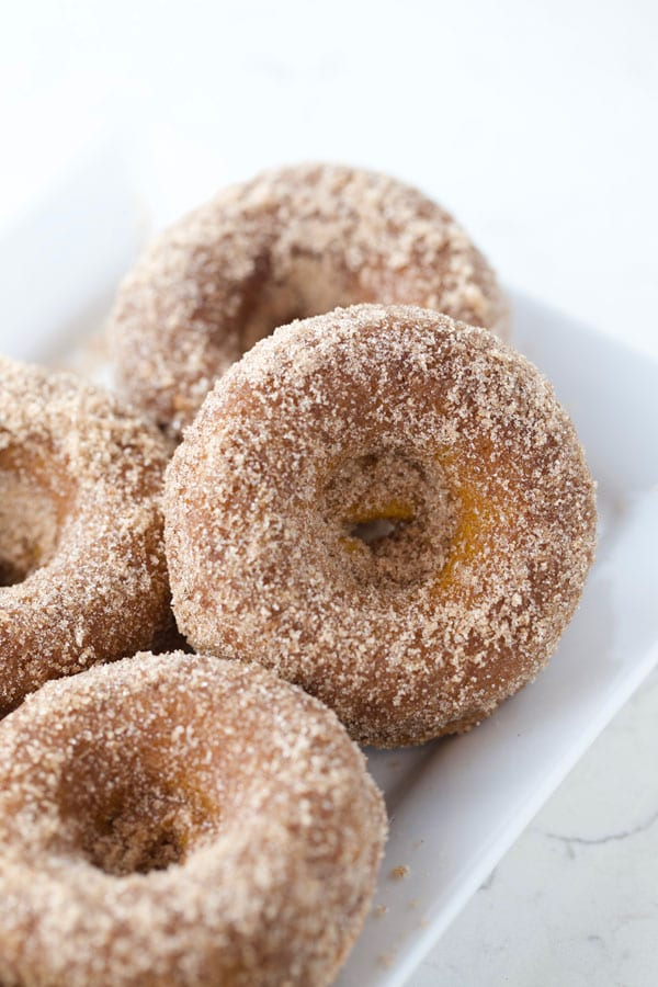 Pumpkin apple cider baked donuts