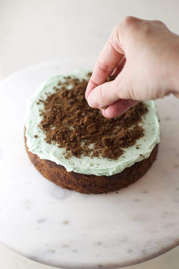 Girl scout thin mint cake