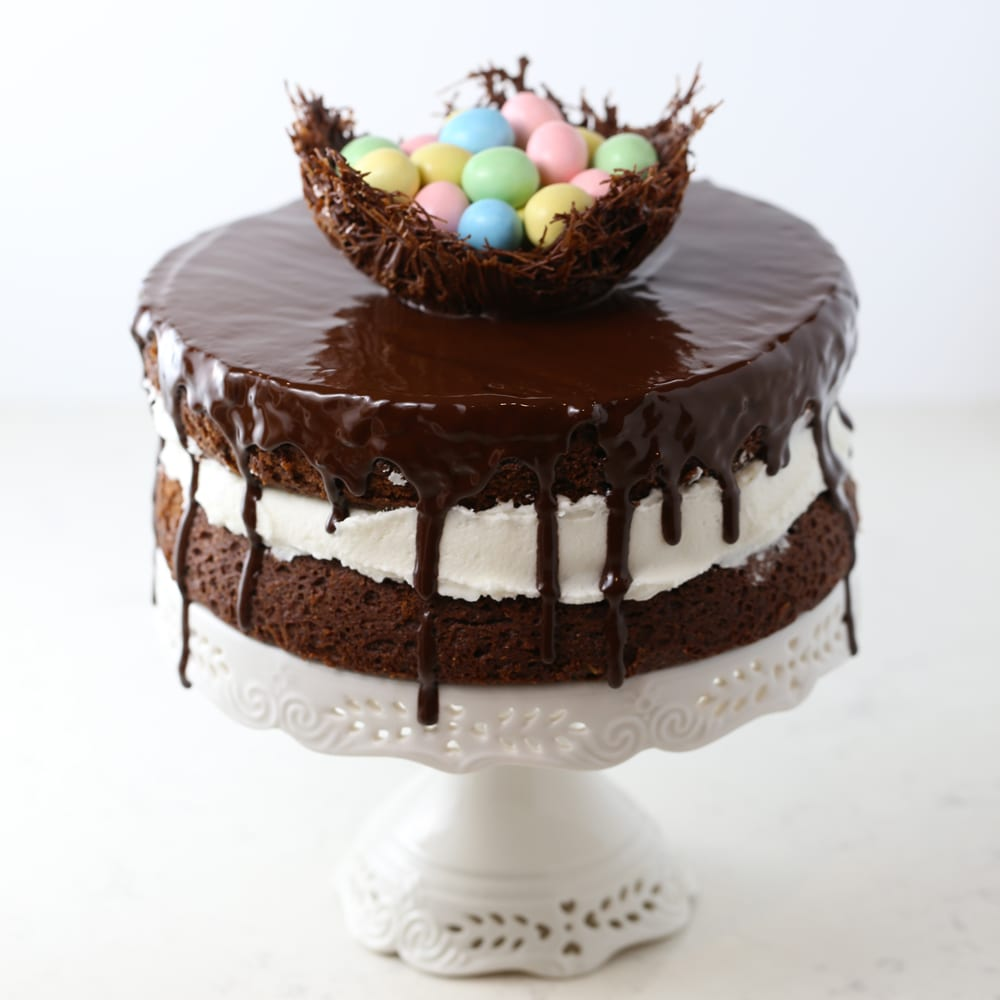 Easter egg ding dong chocolate cake gluten free