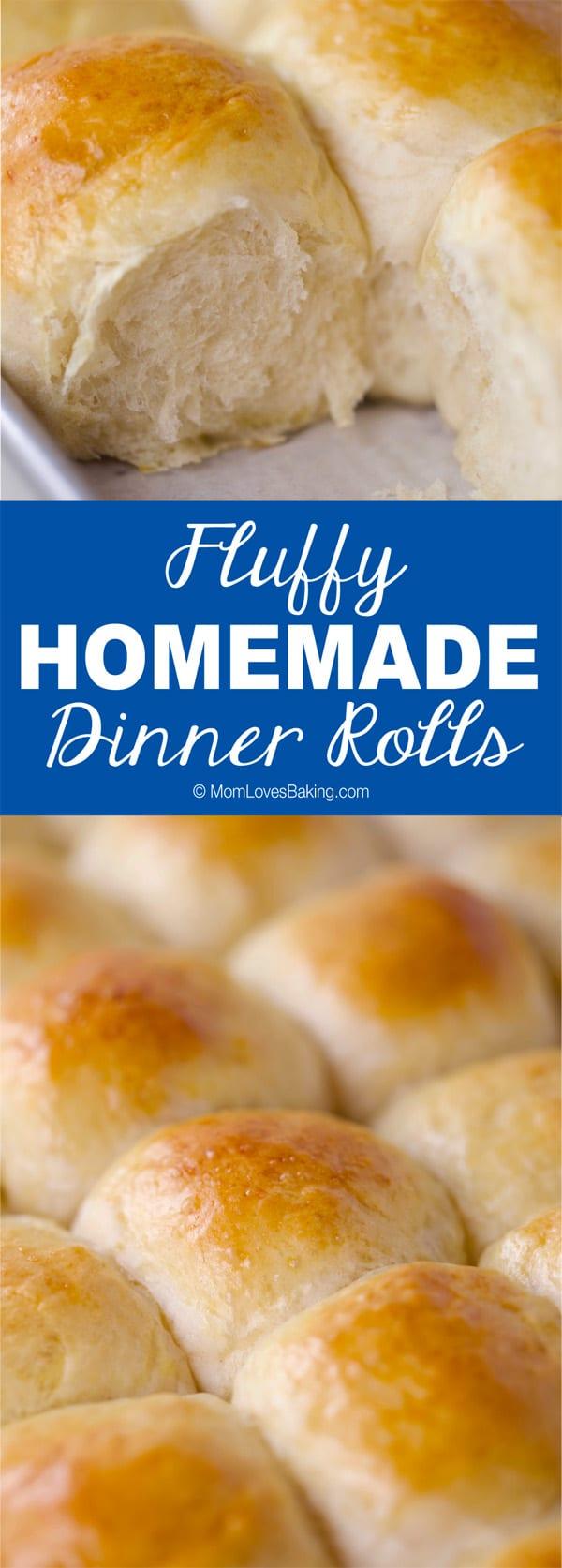 Fluffy homemade dinner rolls