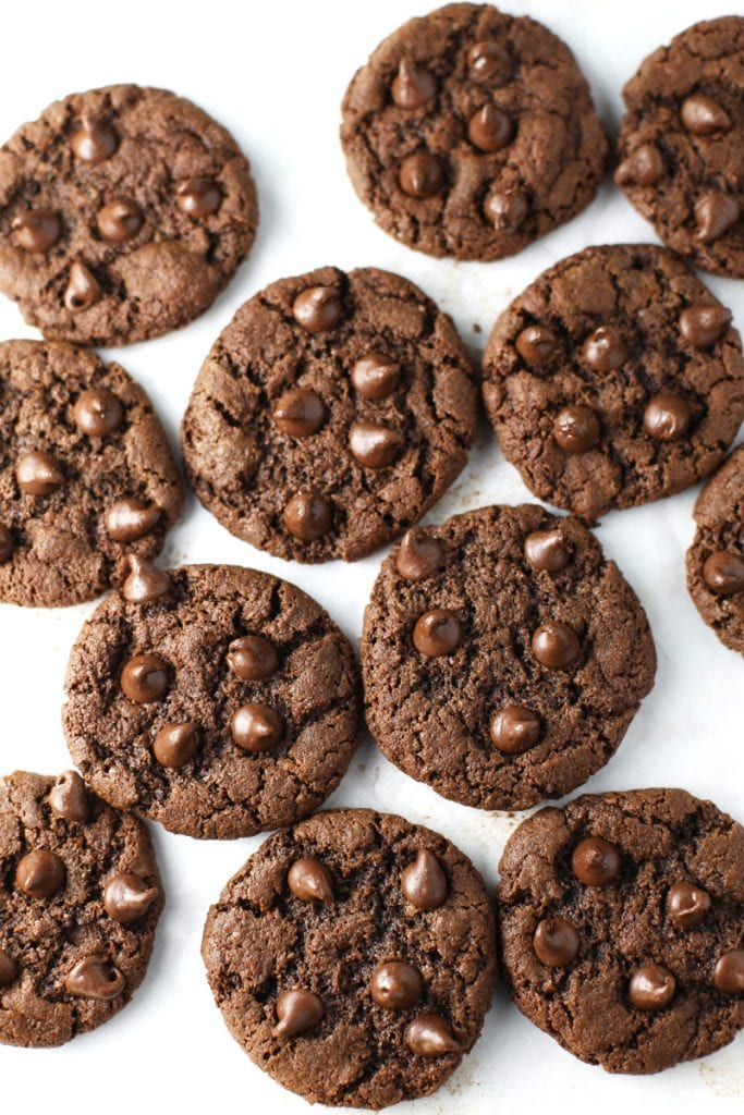 Gluten Free chocolate chocolate chip cookies