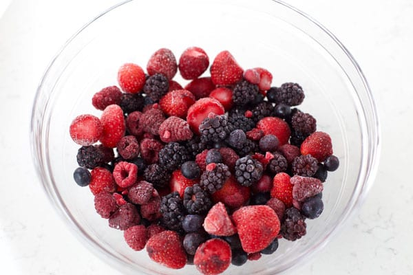 Berries for Mixed berry cobbler