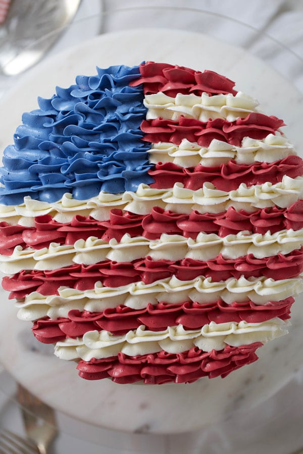 USA flag layer cake
