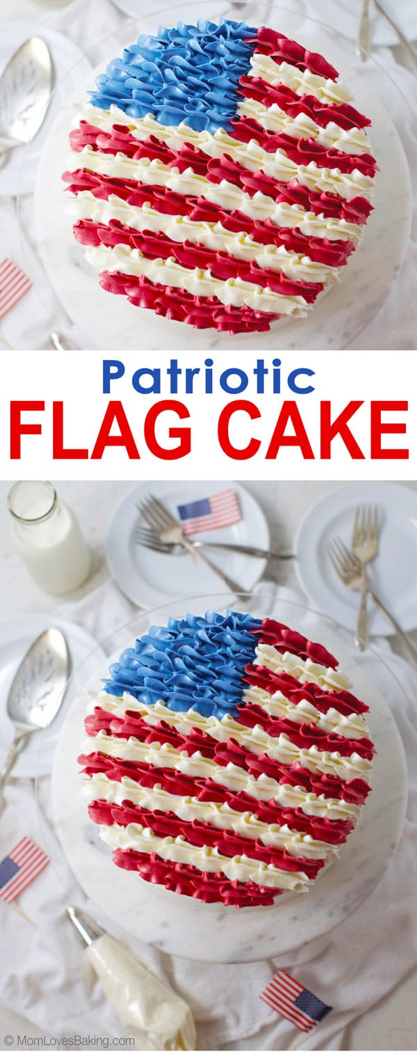 American flag layer cake