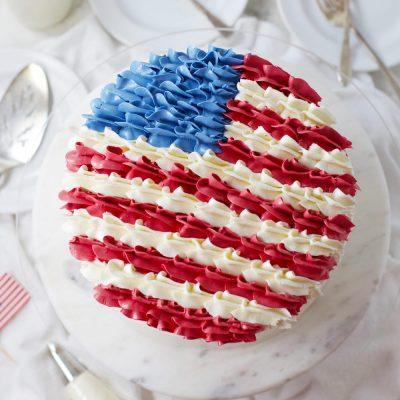 Patriotic American Flag Layer Cake