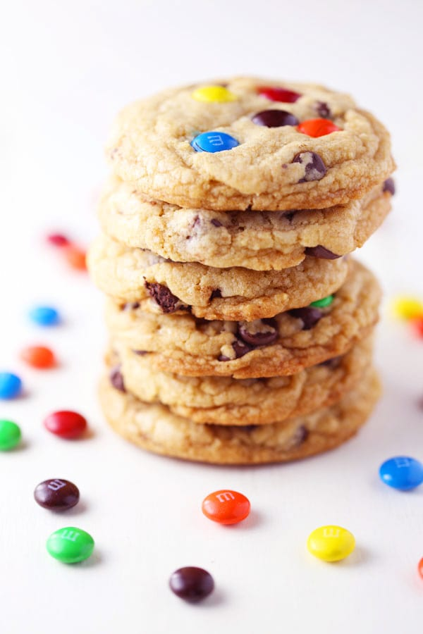 Chewy Chocolate Chip M&M Cookies