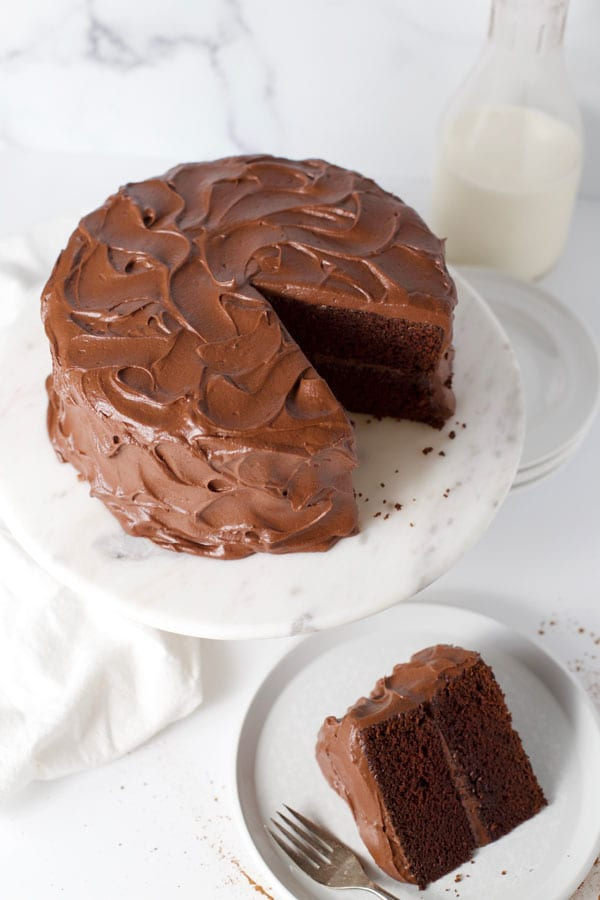 Chocolate fudge cake vintage recipe