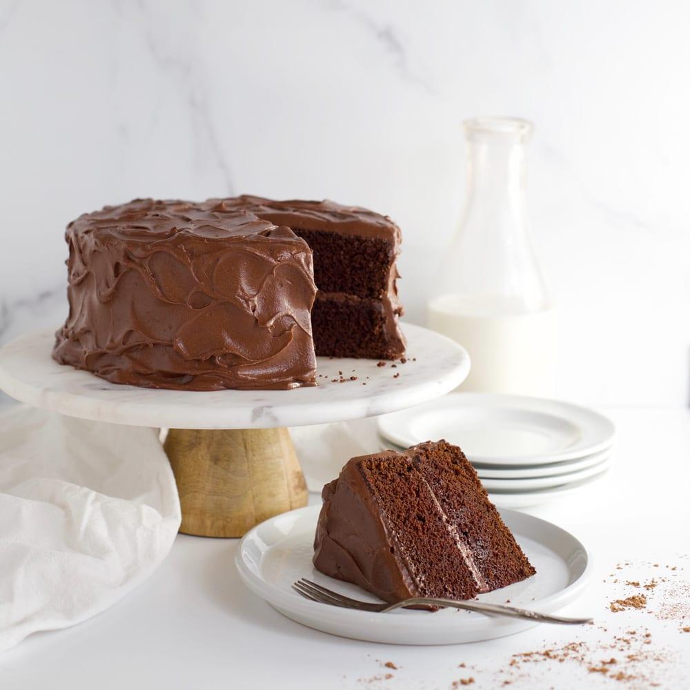 Aunt Emily S Chocolate Fudge Cake Mom Loves Baking