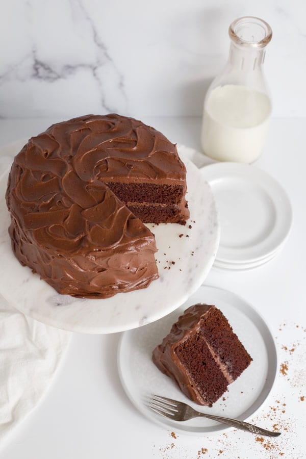 Chocolate chocolate fudge cake