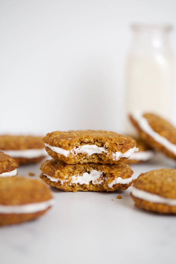 Bite of oatmeal cream pies