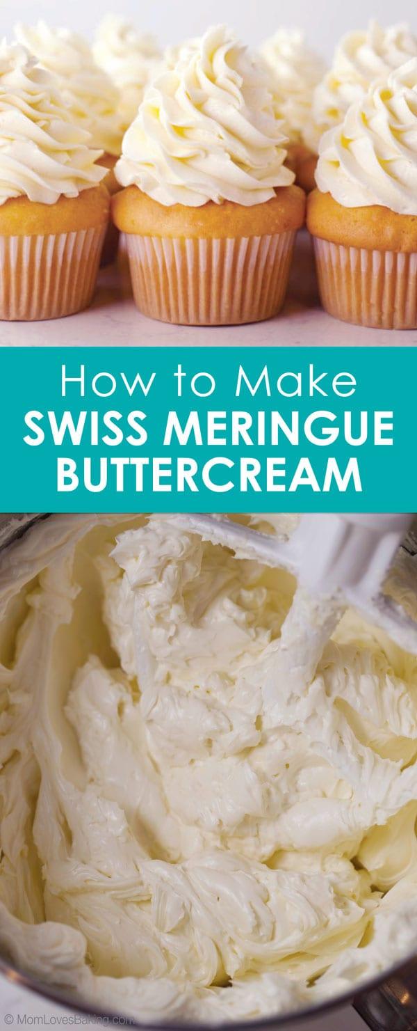 Swiss meringue buttercream cupcake and bowl