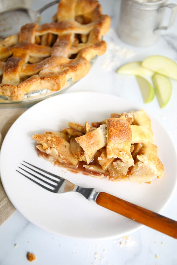 Slice of best ever apple pie