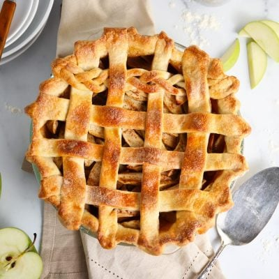 Best ever apple pie lattice crust with braid