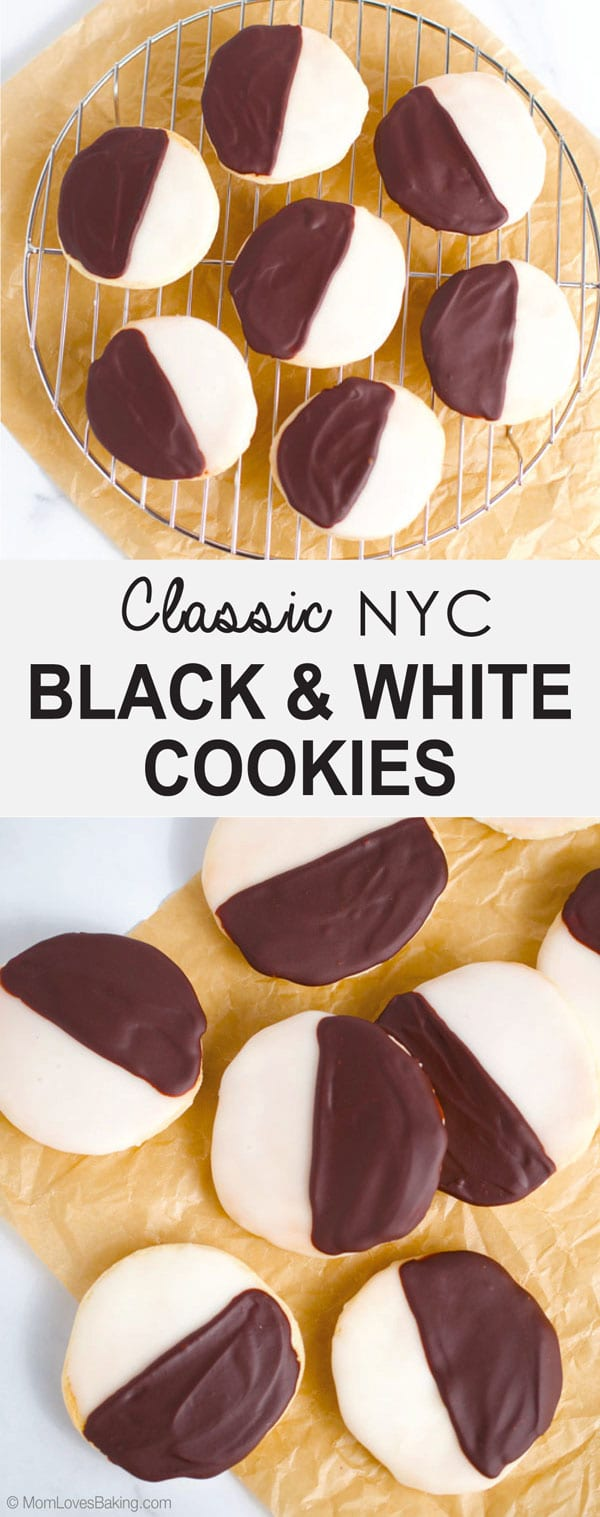 Classic NYC Black and White Cookies Gluten Free