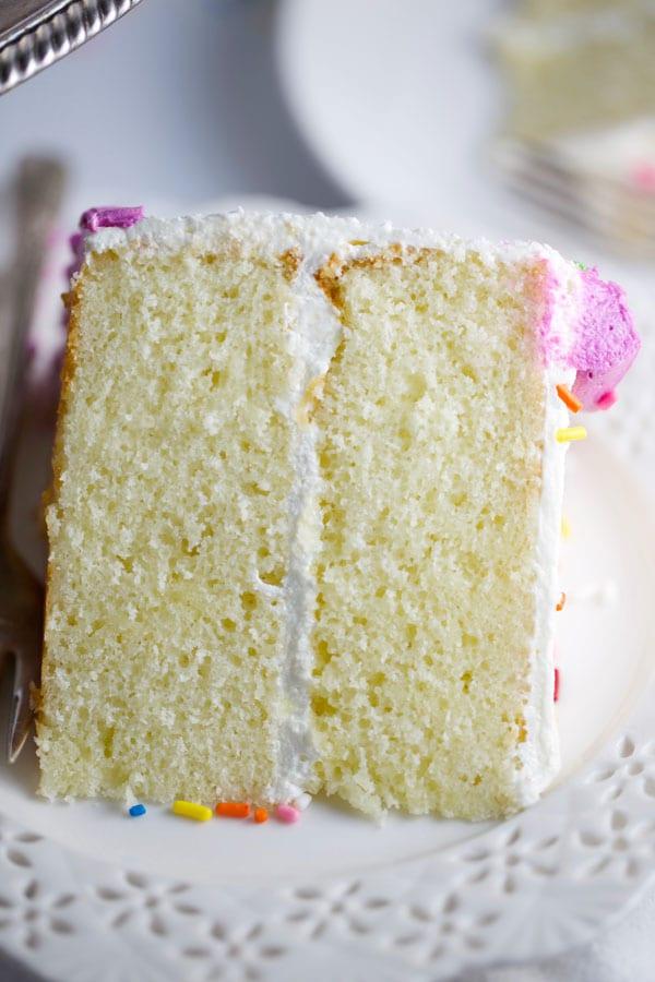 White cake 1-2-3-4 cake