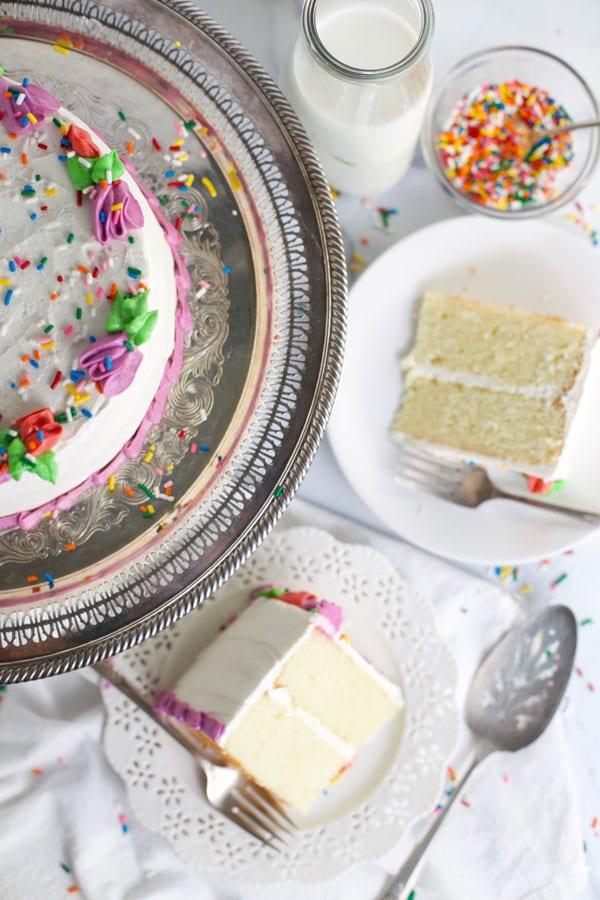Classic white butter cake recipe