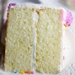 Classic white cake slice