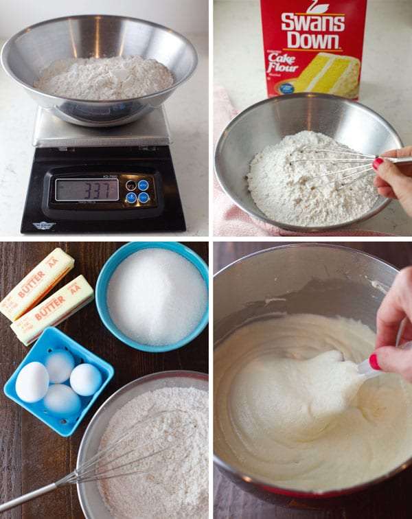 How to make white cake from scratch step by step photos