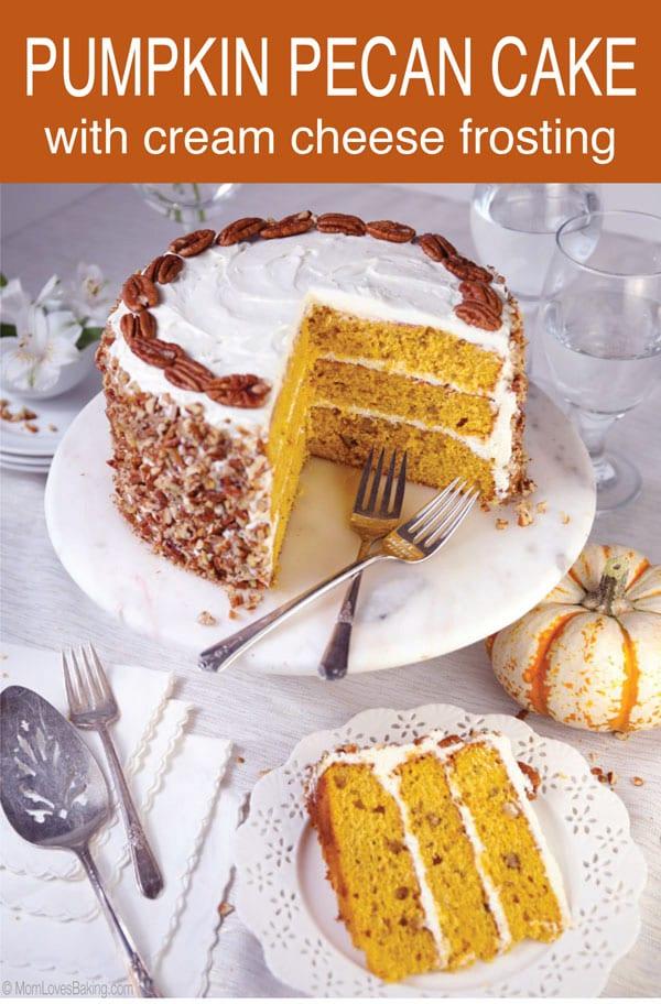 Pumpkin Spice Pecan Cake recipe