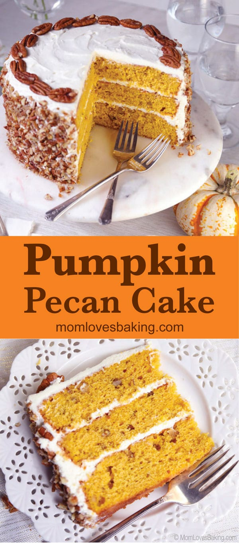 Pumpkin spice pecan cake recipe photo for pinterest