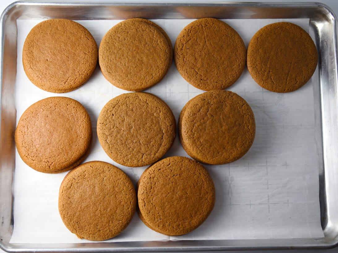 Big chewy soft ginger spices molasses cookies old fashioned recipe