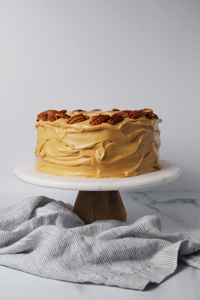 Crazy chocolate cake with caramel cream cheese frosting recipe