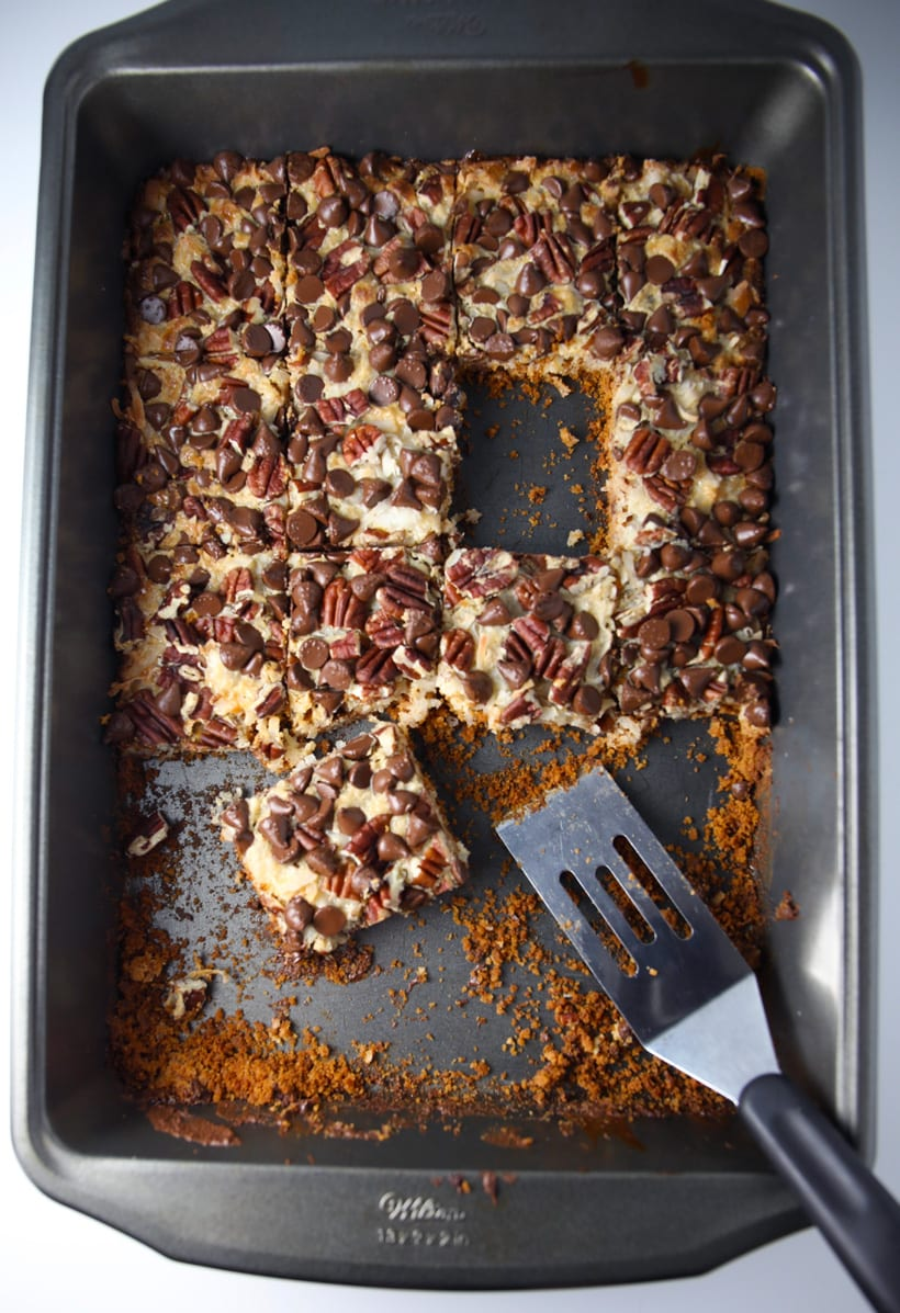 Retro recipe for Seven 7 Layer Magic Cookie Bars