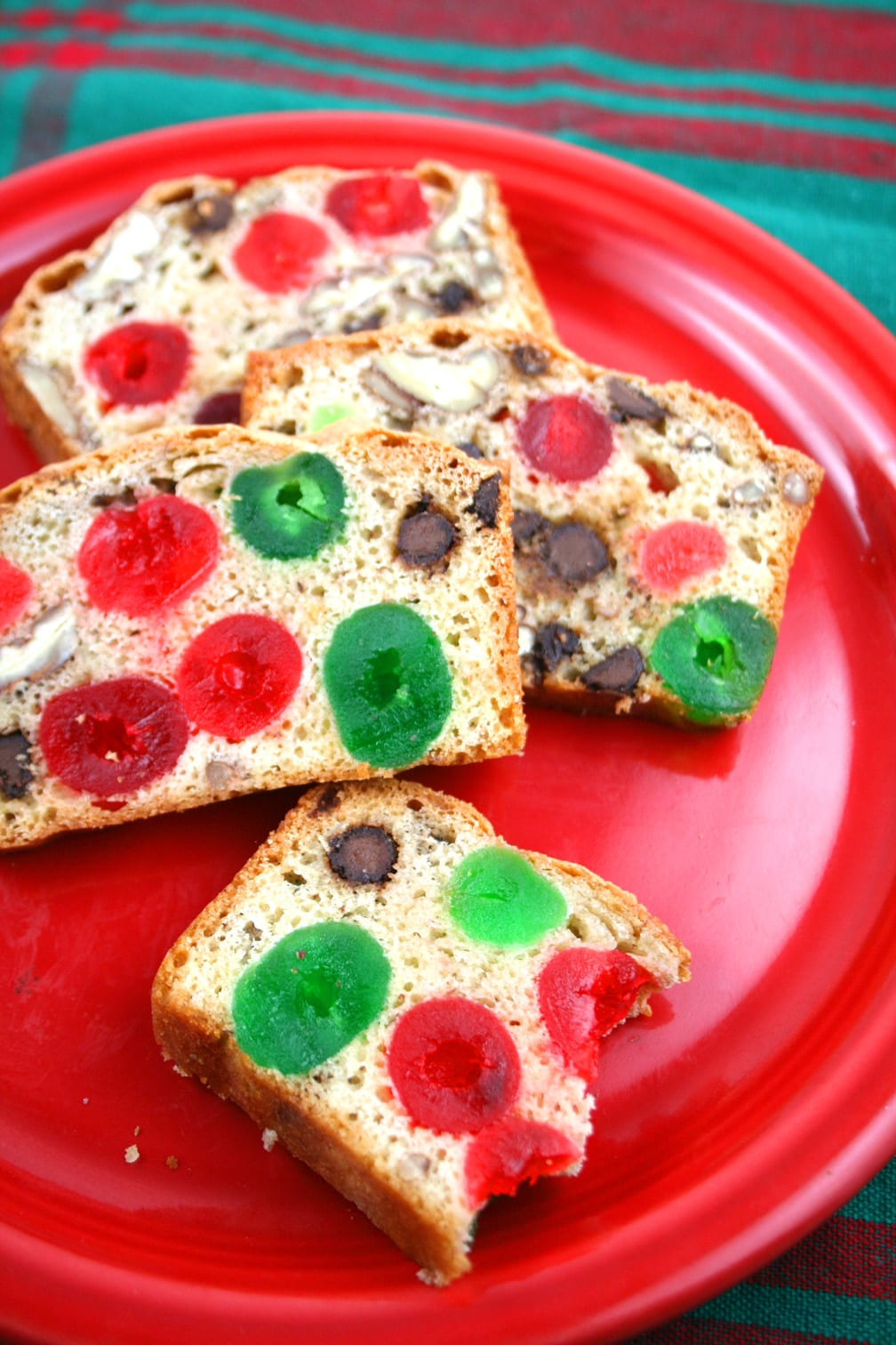 Bishop's bread Christmas bread like fruitcake gluten free candied cherries