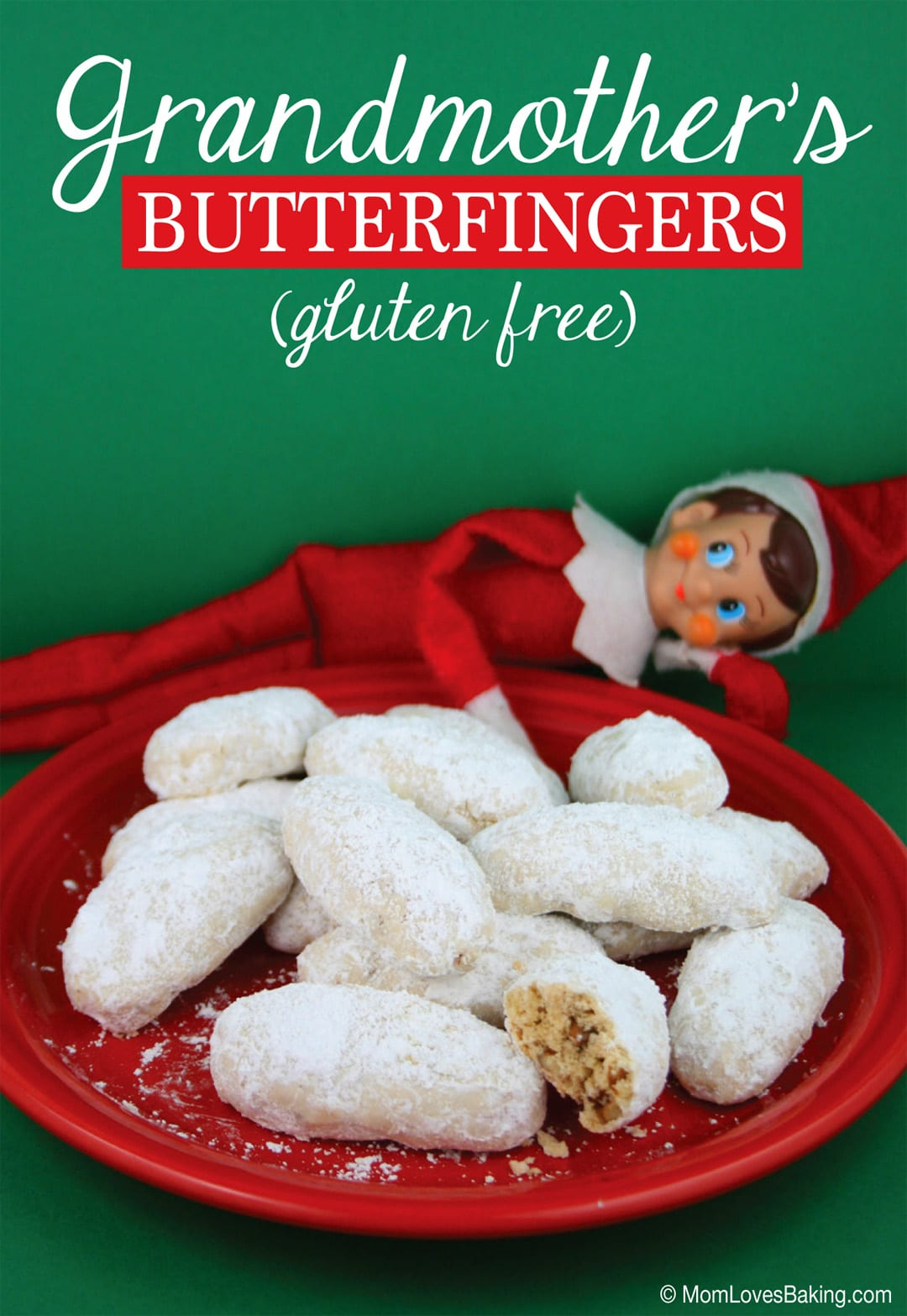 Grandmother's butterfingers cookie recipe like Russian tea cakes or cookies