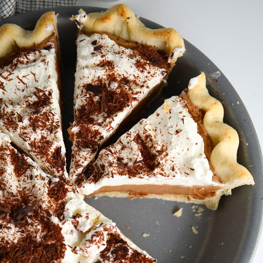Homemade French silk pie