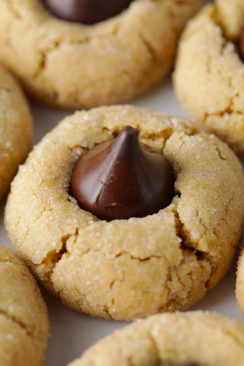 Peanut butter blossoms cookie recipe gluten free with chocolate kisses