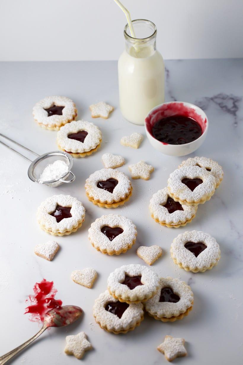 Gluten free linzer cookies christmas cookie swap cookies
