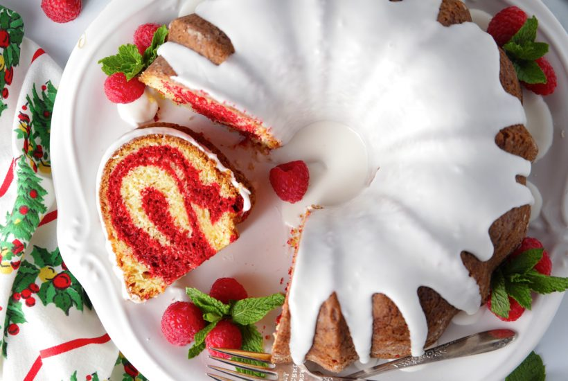 Easy red velvet marble bundt cake recipe