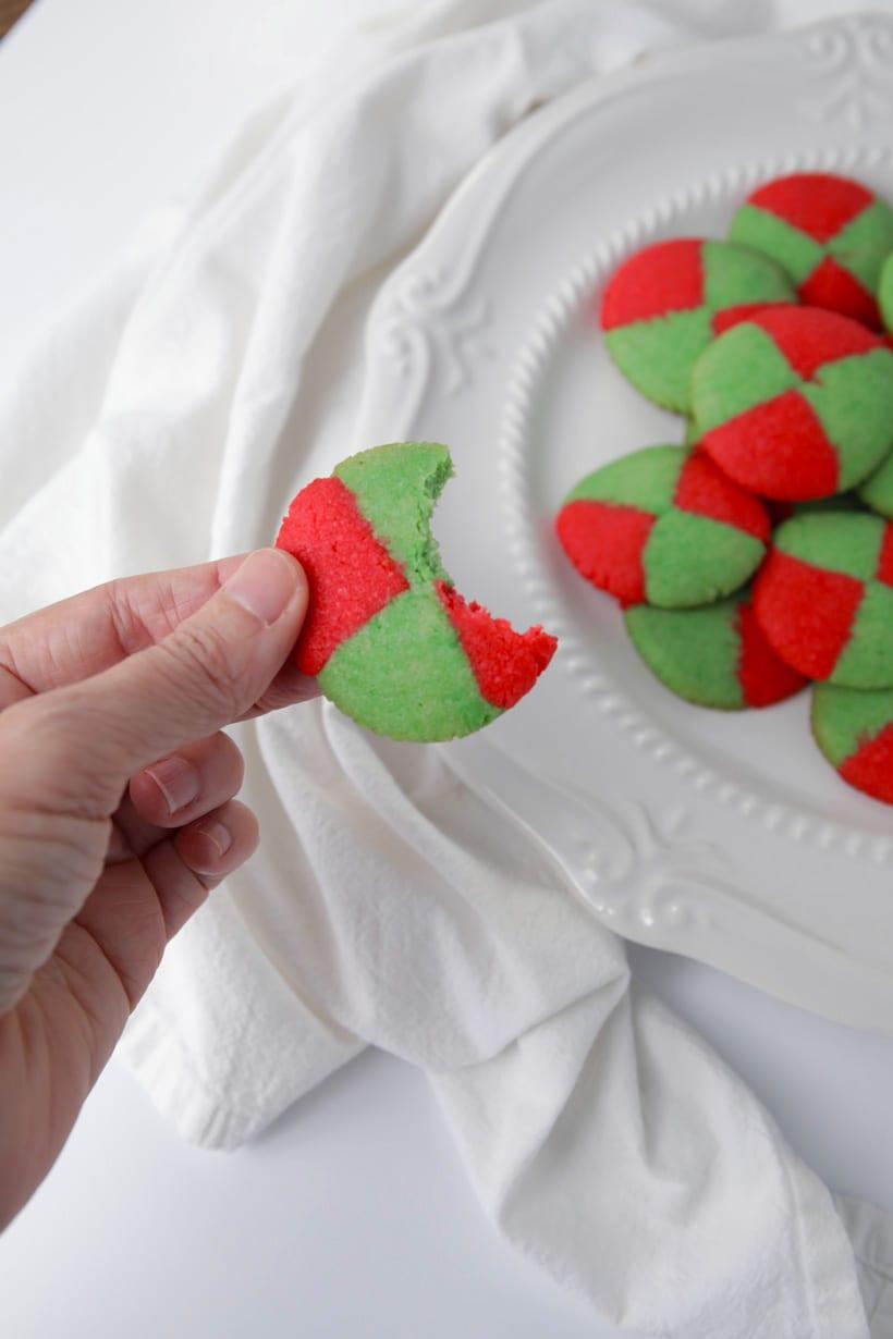 Christmas checkerboard cookies recipe
