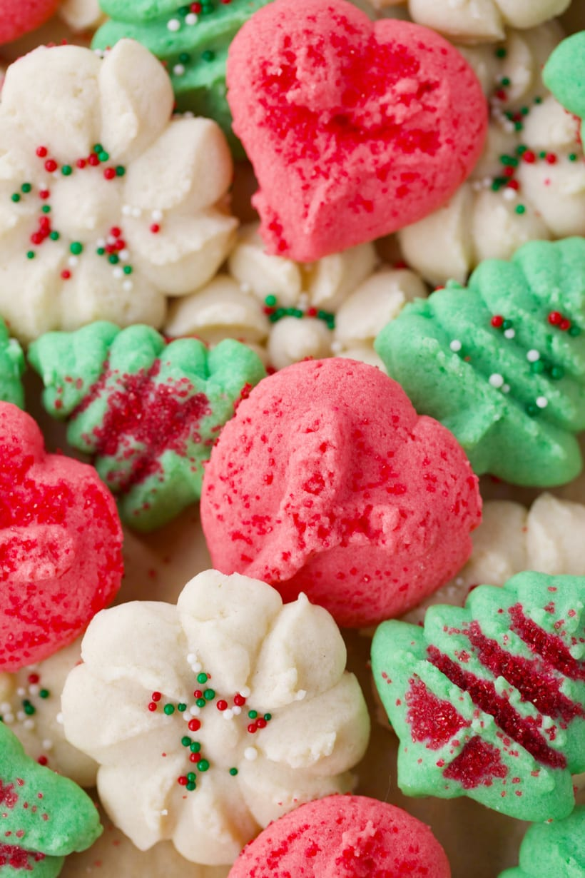 Easy recipe for Christmas cookie press cookies