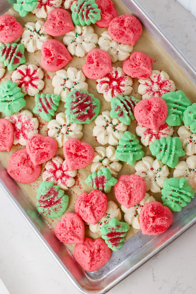 Who doesn't love Christmas spritz sugar cookies vintage recipe
