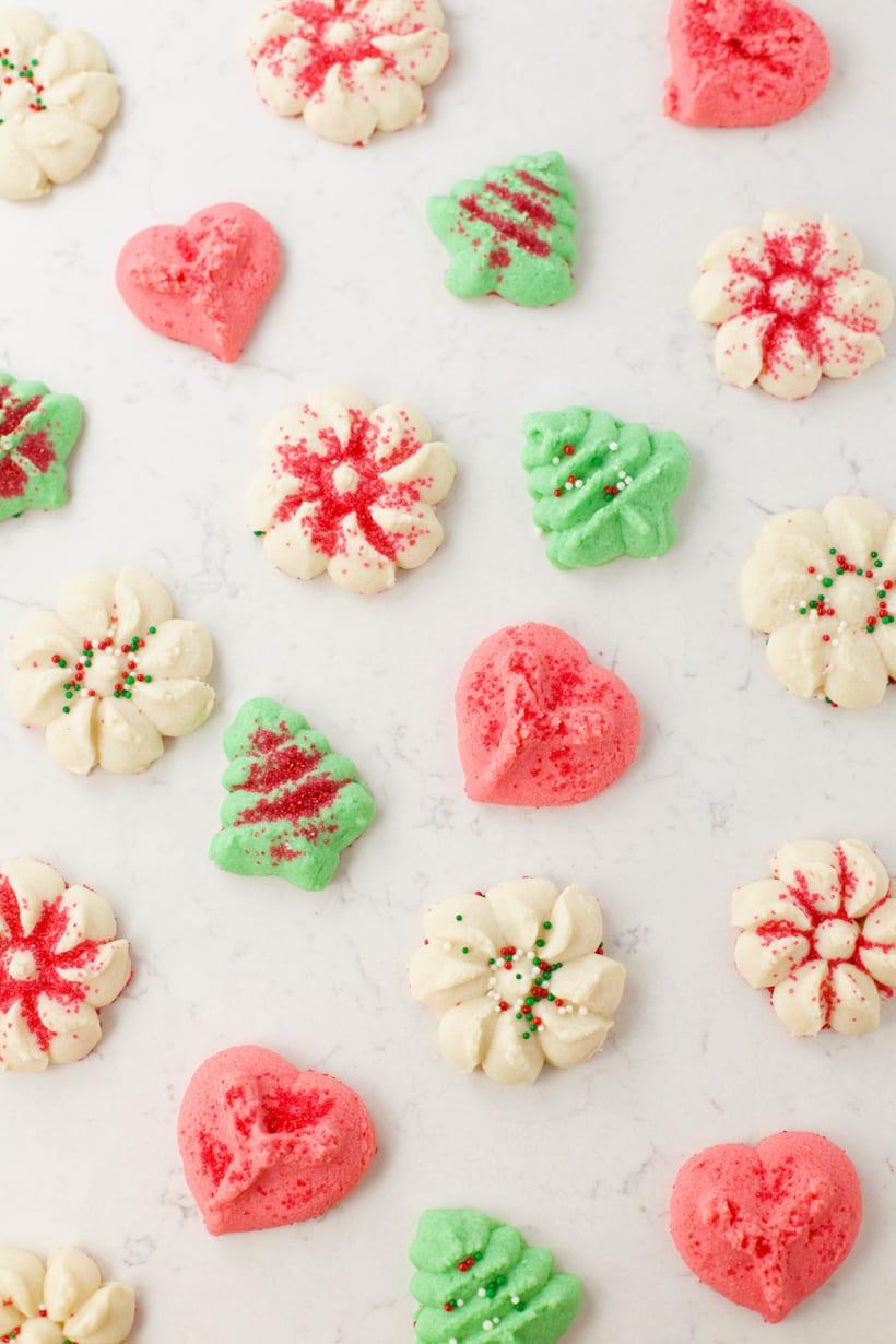 Christmas cookie press cookies