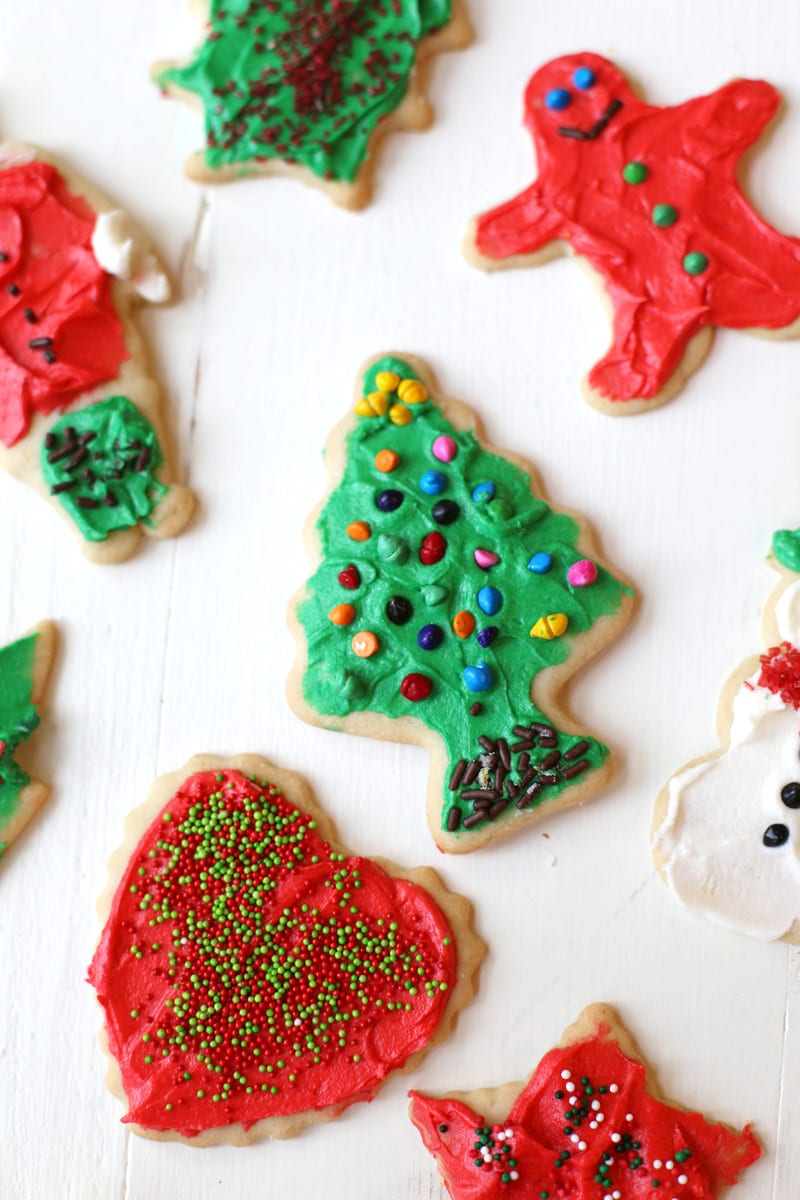 The best Christmas sugar cookies with buttercream frosting