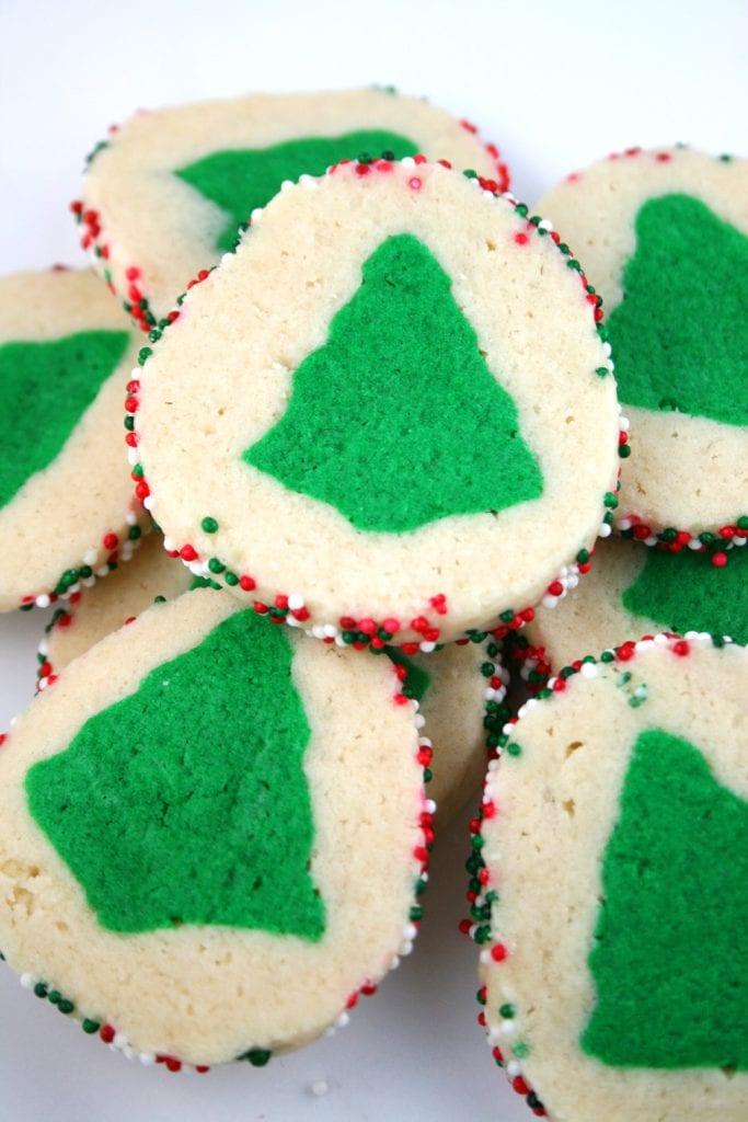 Slice 'n' bake christmas tree cookies