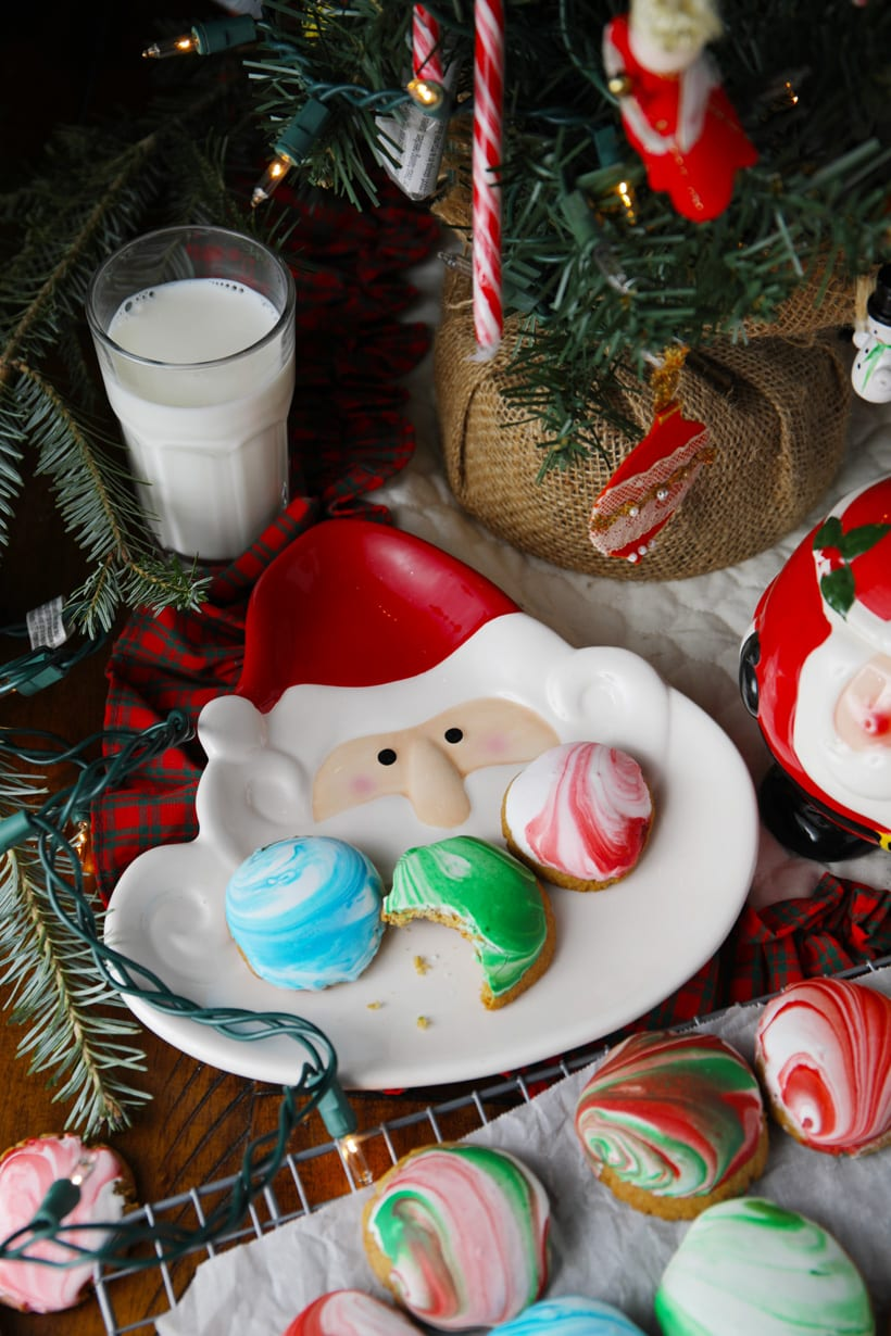 Santa will love these royal icing gingerbread cookies