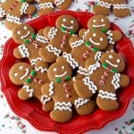 Soft and chewy gingerbread men cookies recipe