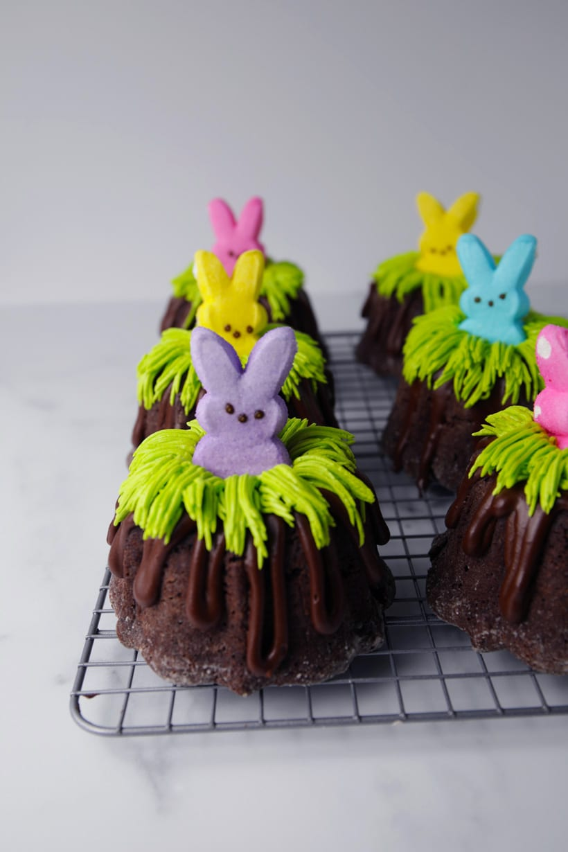 Easter bunny bundlettes mini bundt cakes