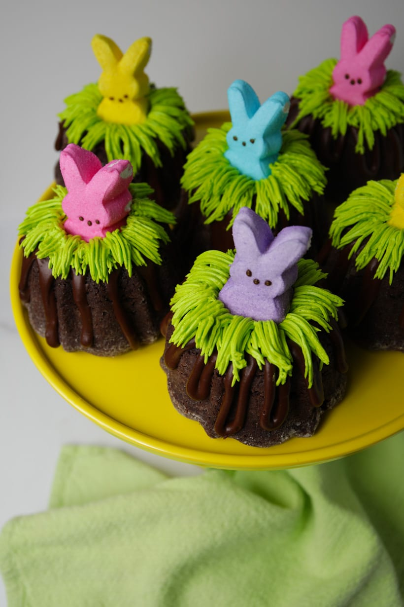 Easter bunny Bundt cakes gluten free chocolate